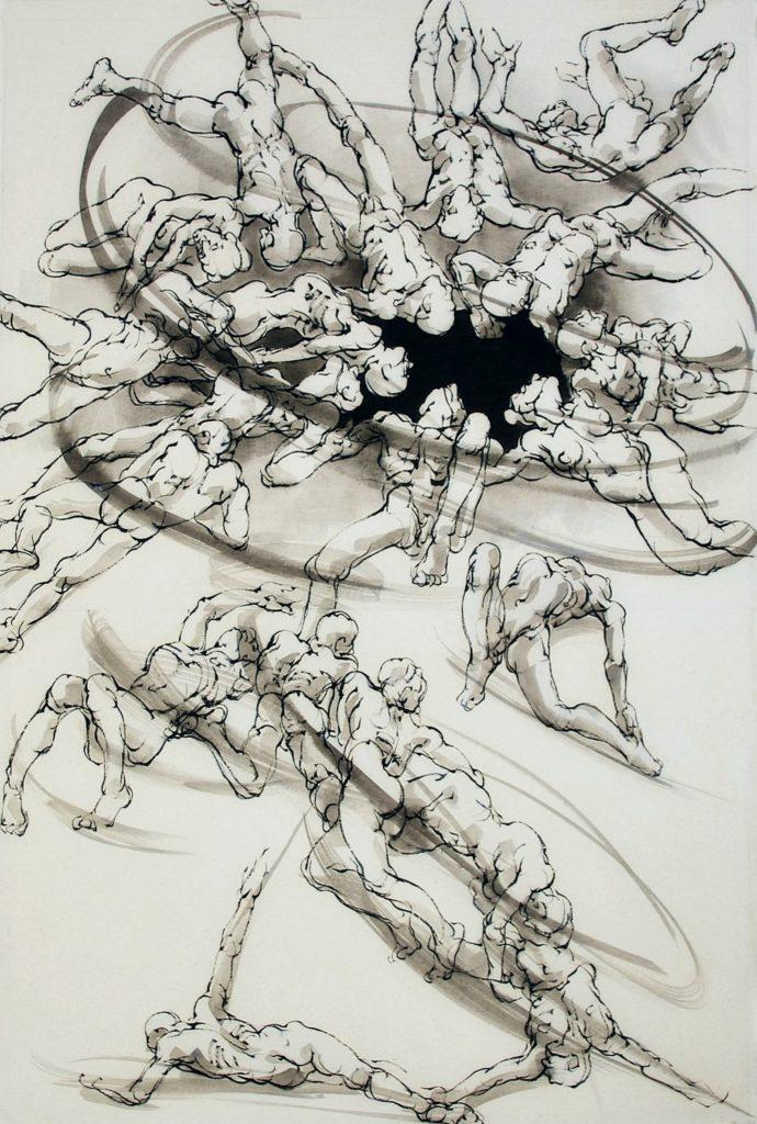2020 - Le trou ARTCITE - 120 x 80 cm - encre sur papier japon
