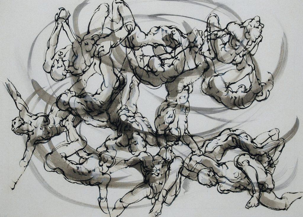 14-2019- Remous-60 x 80 cm-encre sur papier japon (3)