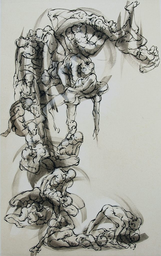 16-2018- La vague 1-V ArtEthic -120 x 80 cm-encre sur papier japon