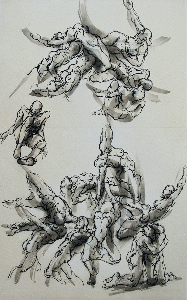 18-2018- Attraction -V Gregor- 120 x 80 cm - encre sur papier2018