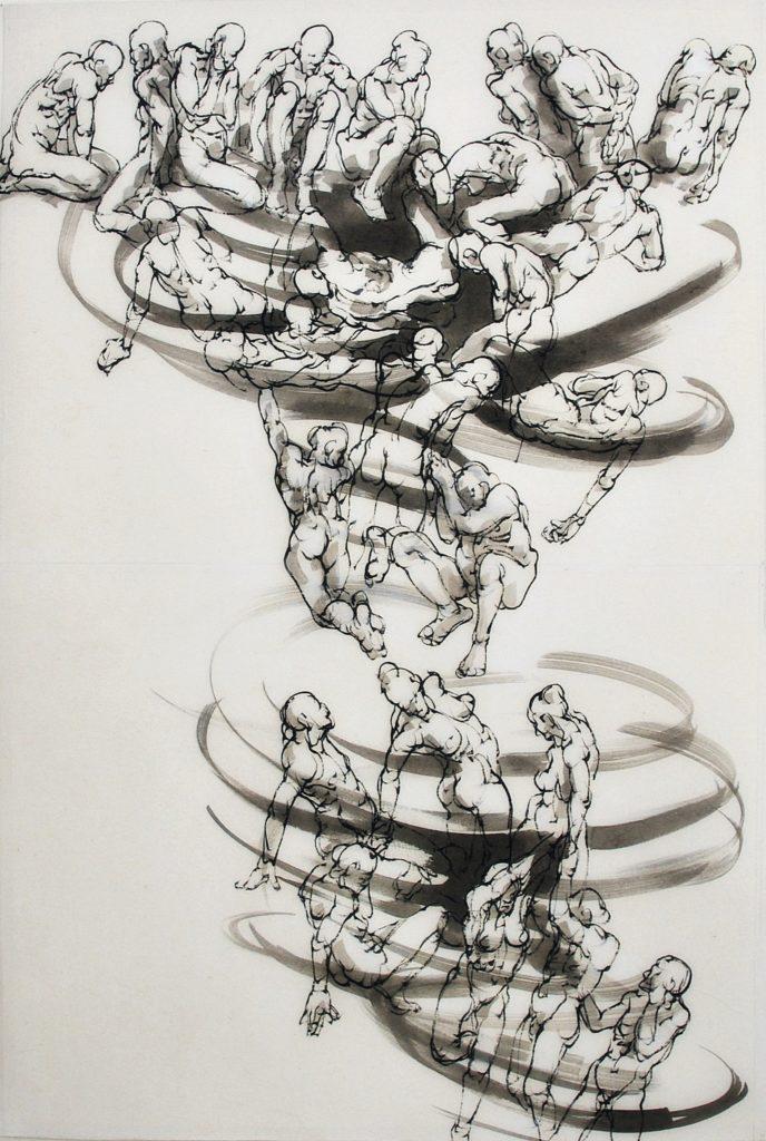 3-2020-Sinkhole 2- ARTCITE120 x 80 cm- encre sur papier japon