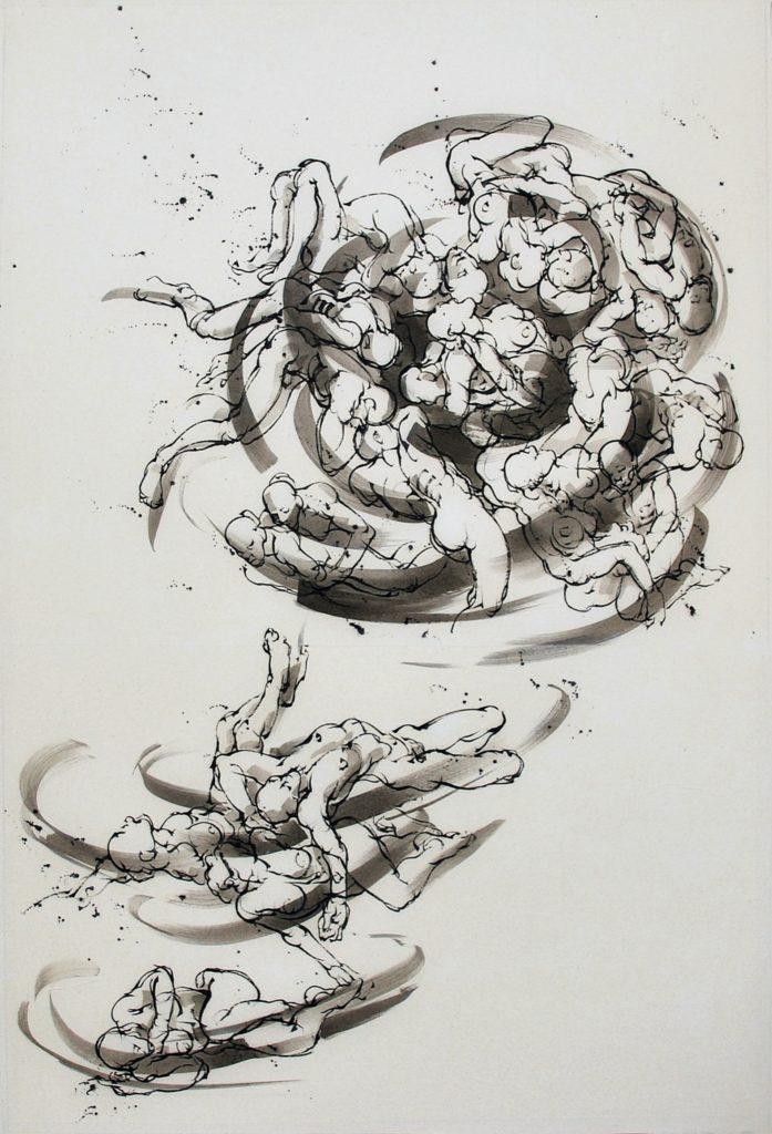 4-Vortex 1-120 x 80 cm-encre sur papier japon-2020