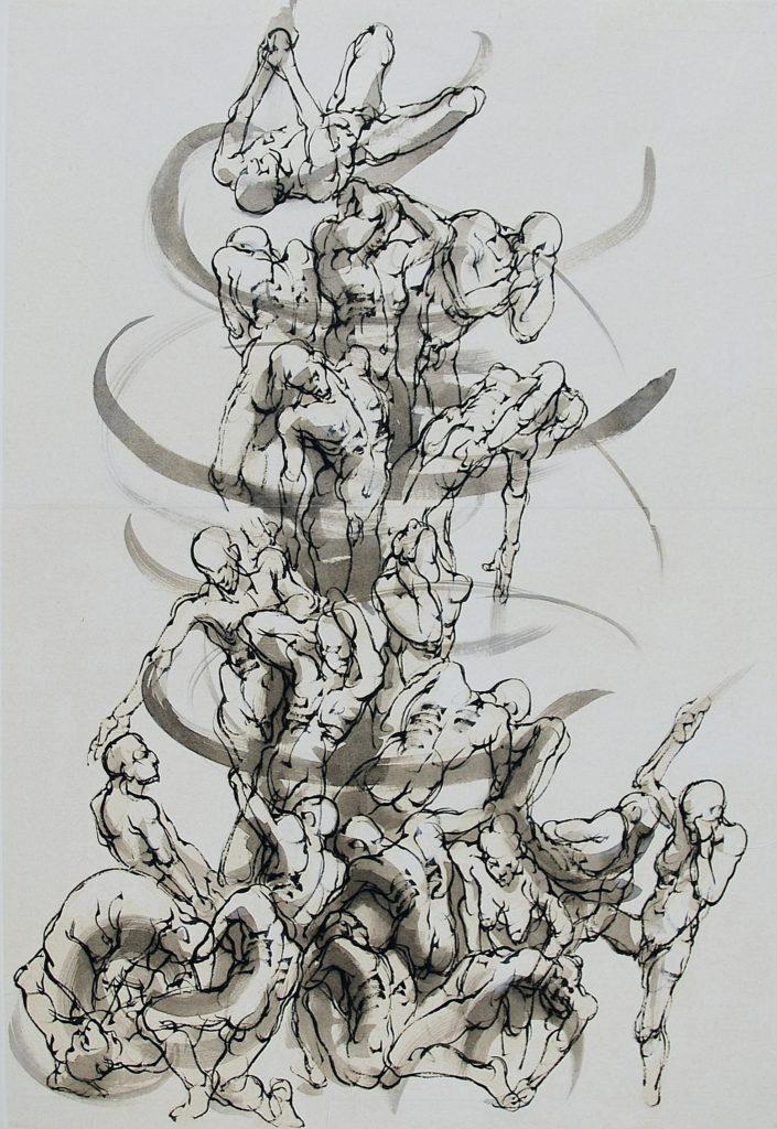 5-2019-Sarabande-V Maz- 120 x 80 cm-encre sur papier-2019
