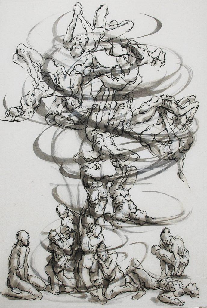 5bis-2019-Vortex 3-Maz-100 x 70 cm - encre sur papier- 2019