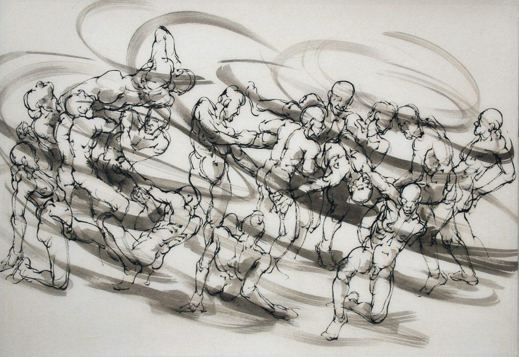 7-2020- La ronde 2- 70 x 100 cm-encre sur papier japon (5)