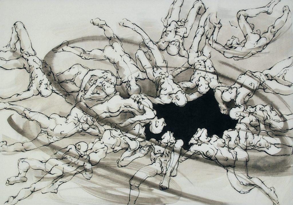 8bis-2020-Trou noir-Maz- 70 x 100 cm-encre sur papier japon